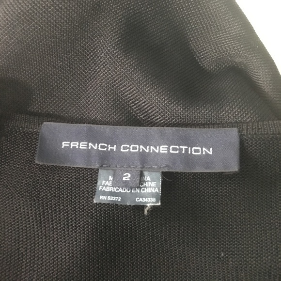 French Connection Dresses & Skirts - 100% Viscose black Mesh dress